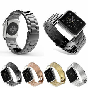 Stainless-Steel-Link-Bracelet-Watch-band-Strap-For-Apple-Watch-Series-4-3-2-1