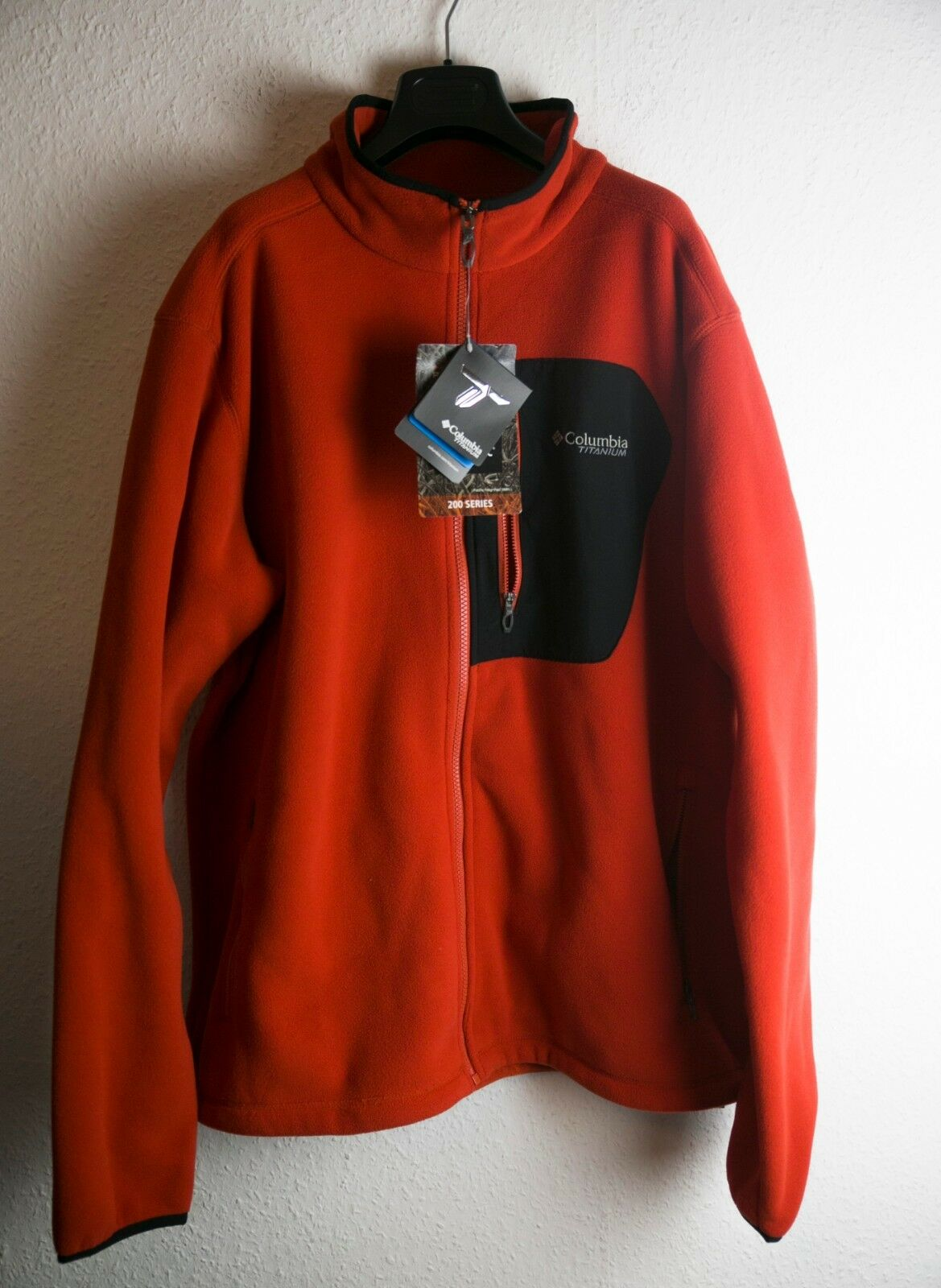 Columbia TITANIUM TITANIO pass 2.0 FLEECE JACKET PILE Flame Rosso Taglia XL