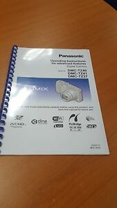 panasonic dmc tz40 full user manual guide instructions printed 314 rh ebay co uk Manual Panasonic Radio Panasonic.comsupportbycncompass