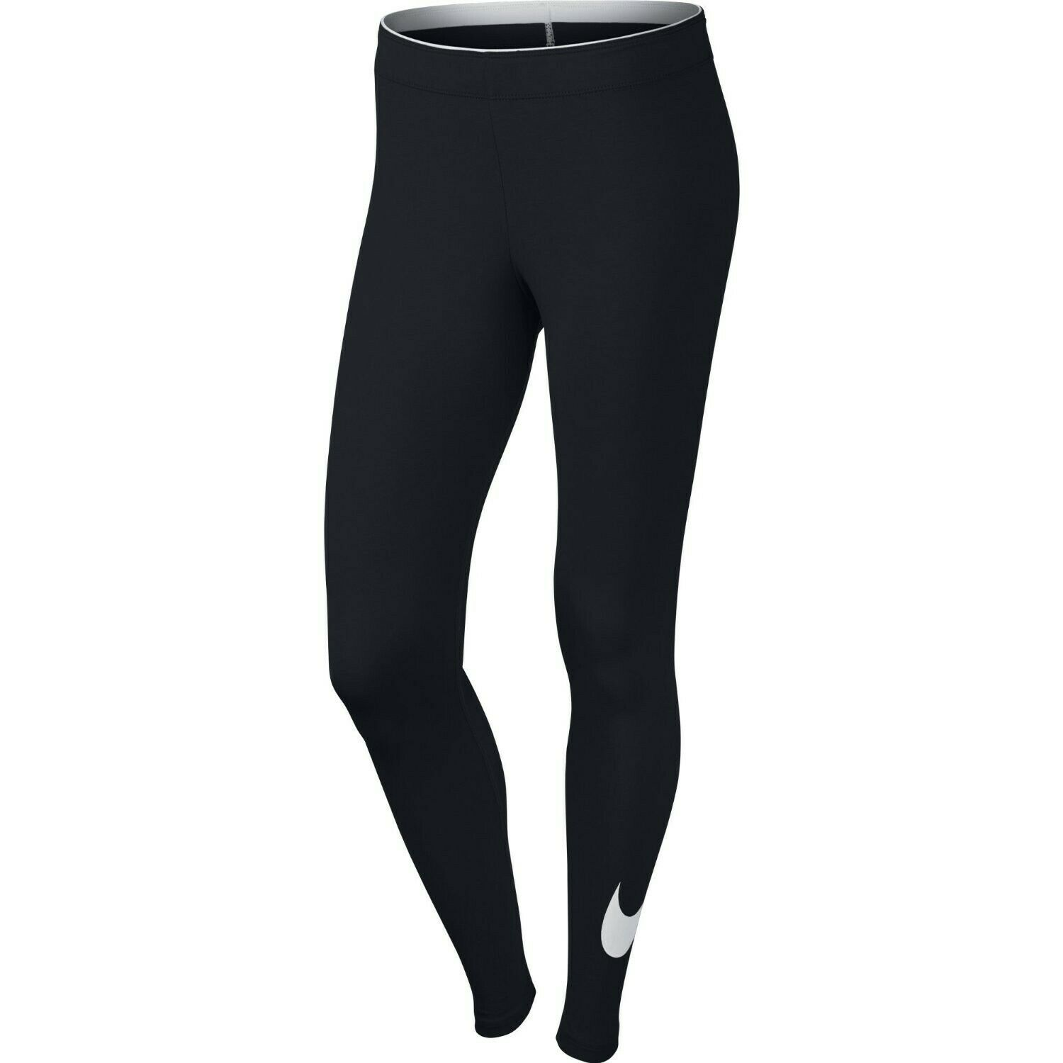 vast selection top design temperament shoes Nike Damen Club Logo Leggings Fitness Trainings Hose Pant schwarz