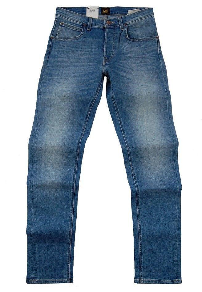 Lee Jeans Daren Straight W30-w31 L34 Men's Denim Power Stretch bluee Used
