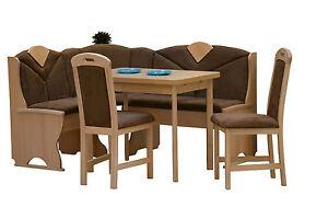 Küchen eckbank buche massiv  Sparset: Küchen Eckbank + Tisch + 2 Stühle Buche massiv ...