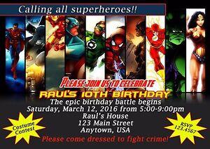 Superhero Invitation Invitations Birthday Superhero Batman