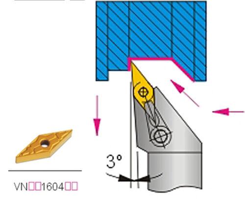 MVJNR1616K16 Index External Lathe Turning Holder for VNMG1604 Inserts Toolholdin