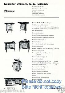 demmer herd eisenach reklame von 1935 haushalt k che werbung ofen gro k che ad ebay. Black Bedroom Furniture Sets. Home Design Ideas