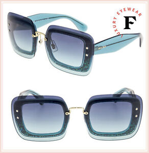 30e5ce6875f Image is loading MIU-MIU-REVEAL-Sunglasses-MU01RS-Turquoise-Blue-Azure-