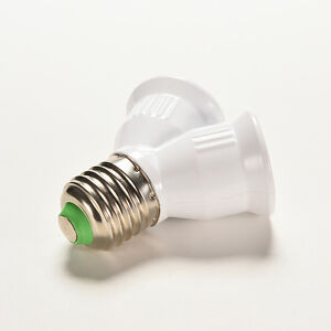 Screw-E27-LED-Base-Light-Lamp-Bulb-Socket-1-to-2-Splitter-Adapter-Converter-YK