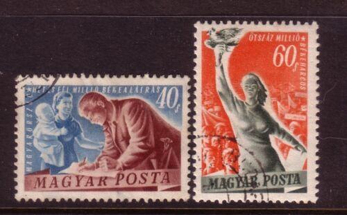 HUNGARY.... 1960 40f, 60f peace used
