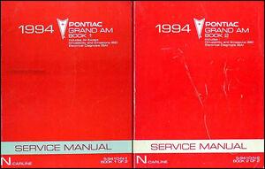 1994 pontiac grand am repair shop manual set 94 se gtp gt original rh ebay com 1997 Pontiac Grand AM 1997 Pontiac Grand AM