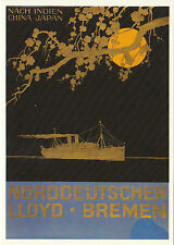 PHOTOGLOB  ZURICH  ADVERTISING  POSTCARD  -  SHIPPING  -  NORDDEUTSCHER  - 1920