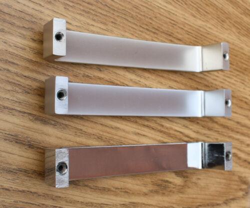 brillant satin A10 x1 Placard de cuisine porte armoire tiroir poignées Large Acier mat