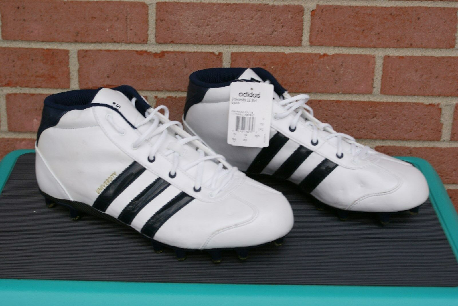 Men's ADIDAS  university le mid Football Cleats Shoes size White 13.5 New best-selling model of the brand