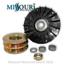 Fan AND 80 MM double pulley 4 permanent magnet alternator pma pmg hydro Delco