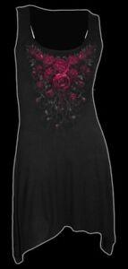 Maglietta Maglia Blood Rosa Moda Gotico Donna Spiral Lunga Canottierina qpprnUgwX5