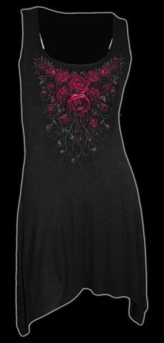 Maglia Maglietta Canottierina Blood Moda Gotico Spiral Lunga Rosa Donna rwrqP4yz