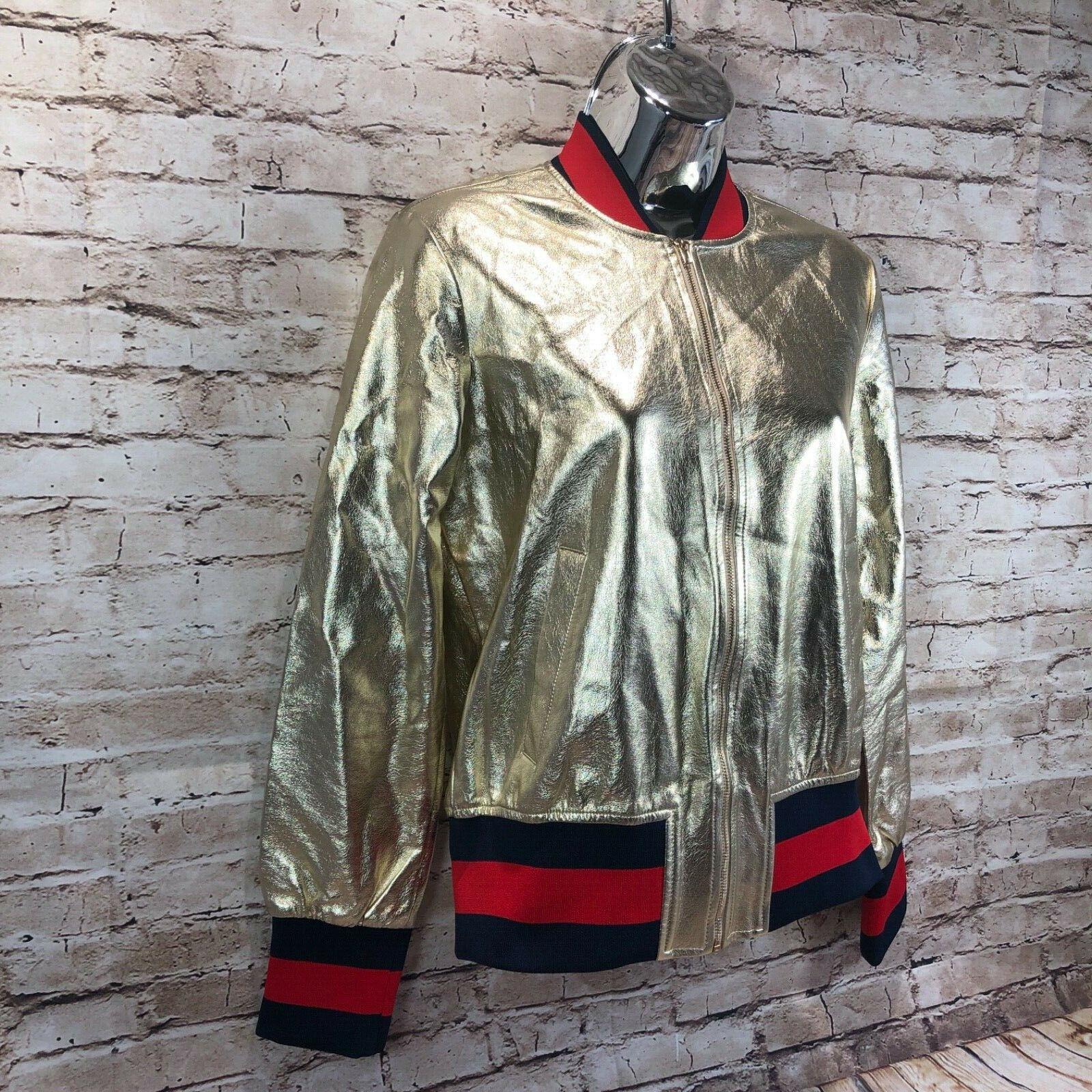 Nasty Gal  Herra Collection grandmaster metallic gold bomber women sz S