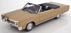 Bos Modèles 1967 Chrysler Newport Convertible Doré 1/18 Échelle Neuf ! Le De
