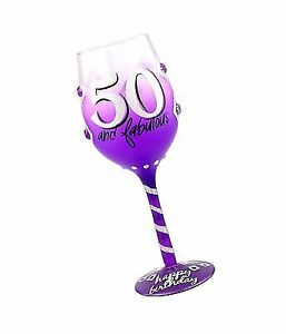 Top Shelf 50th Birthday Wine Glass Hand Painted Gift Ideas For Women