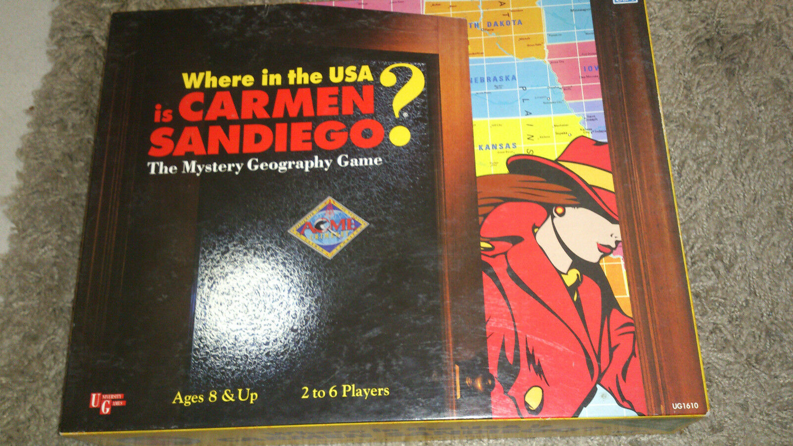 Where in the  USA is voitureHommes Sandiego - University Games (1993) - Très rare  le plus en vogue