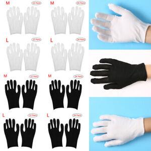 24 Pairs Unisex Cotton Lightweight Thin Soft Protective Elasticity Working Glove