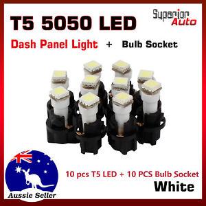 10pcs-T5-5050-LED-LED-Socket-Holder-For-Instrument-Panel-Dash-Light-Bulb-White