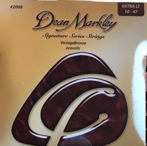 Dean Markley Signature Series Vintage Bonze Acoustic Guitar Strings 2008