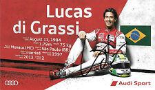 Lucas di Grassi SIGNED Official Team Joest Audi, WEC Promo Card 2015
