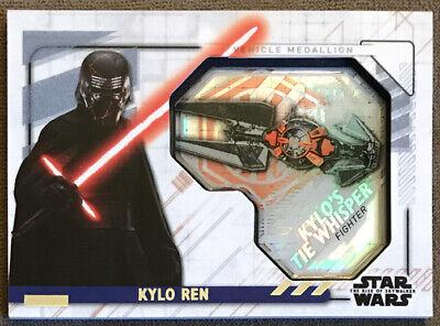 2020 Star Wars The Rise Of Skywalker Series 2 Kylo Ren Tie Whisper Medallion Ebay