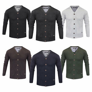 Mens-Brave-Soul-039-Ghazali-039-Lightweight-Knitted-Cardigan-New-Sizes-S-to-XL