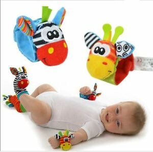 Baby Toy  Wrist Strap Foot Socks Soft Infant Wrist Rattle and Socks Bell SA