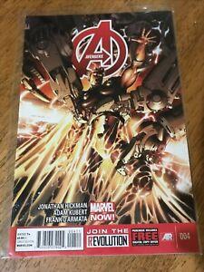 AVENGERS COMIC BOOK 004 Marvel Now! Hickman Kubert D'armata