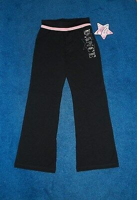 GIRLS MORET BLACK & SILVER BLING DANCE OUTFIT YOGA PANTS SIZE 4 - 5 XSMALL NWT