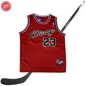 d916c2a7bcc6 Michael Jordan CHICAGO Bulls # 23 Rouge Maillot Basket Jersey Homme ...