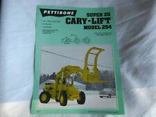 Pettibone Cary Lift Super 25 Swivel Clam 254 Specification Sheet Brochure