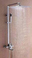 "12"" Big LED Square Shower Head Bathroom Rainfall Shower Faucet Set JN-8103"