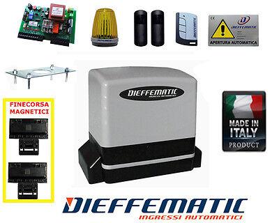 Cancello Elettrico Scorrevole 230v 600kg Kit Automazione Automatico Nice Robus D
