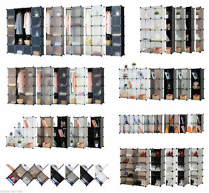 Regalsystem-Schuhregal-Kleiderschrank-Badregal-Steckregal-Garderobe-Auswahl