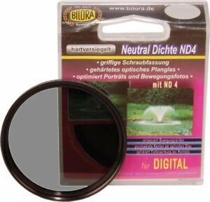 2 x Bilora densidad neutra filtro nd4 Ø 46 MM filtro gris 7018-46 nuevo embalaje original