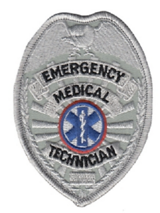 EMT Emergency Medical Technician Generic Badge Patch Gold or Silver Color
