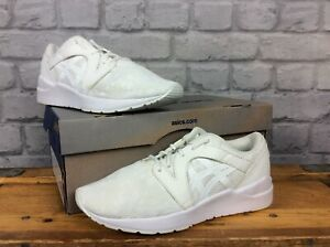 Asics Damen UK 4 EU 37 Tiger Gel Lyte Komachi All White Sneaker LG