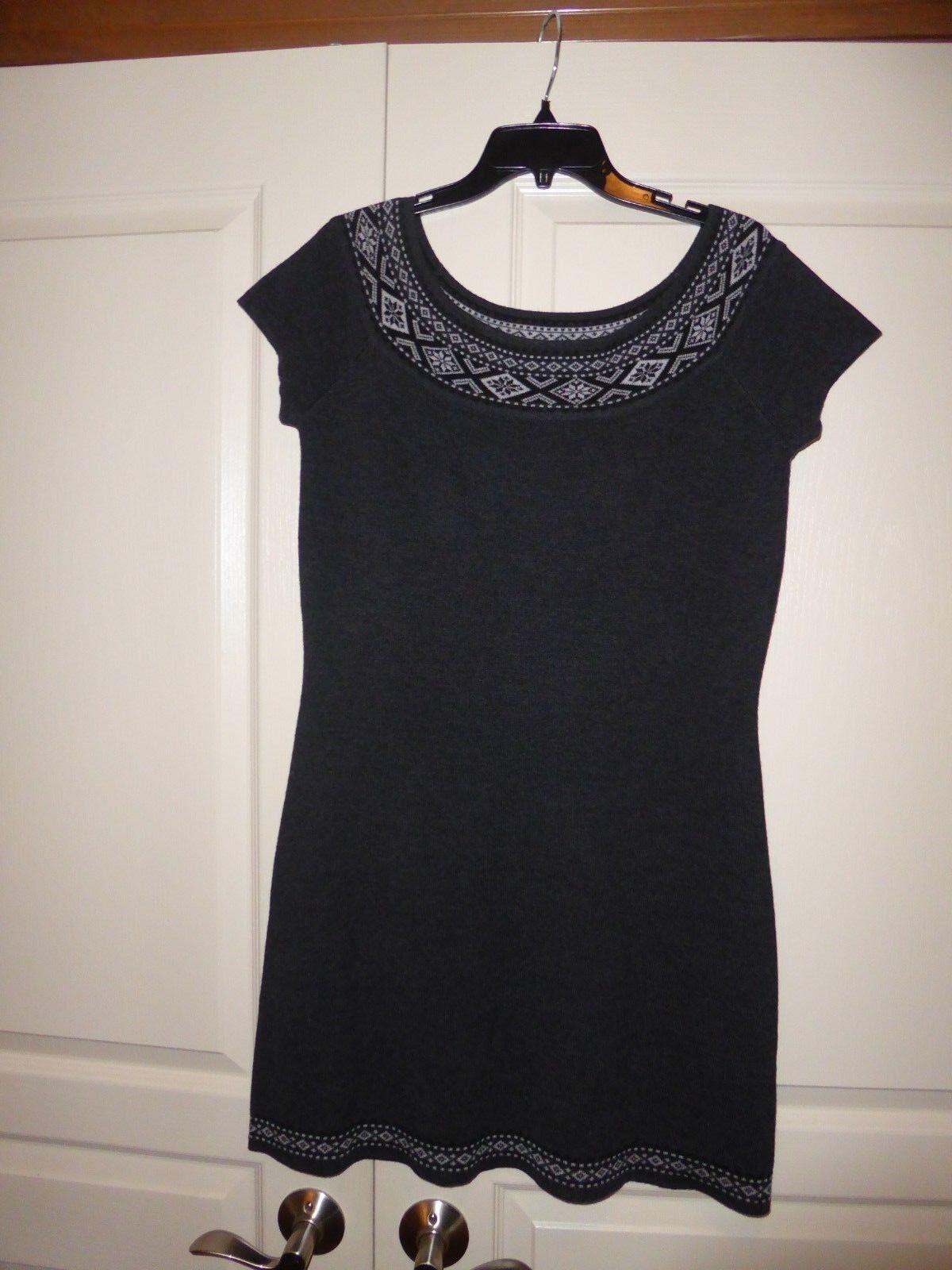 NWOT NEVE Womens Nordic Meriono Wool Pascal Short Sleeve Dress Medium