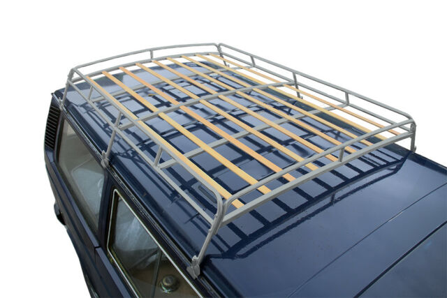 1 8m Vw T25 Silver Powder Coated Steel Roof Rack With Solid Beech Slats C9069p For Sale Online