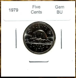 Canada-1979-Gem-BU-Five-Cents-UNC-MS-Nickel