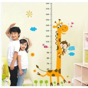 Cute-Giraffe-Child-Kid-Height-Growth-Chart-Wall-Sticker-Room-Decor-Decal-Bedroom