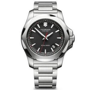 Victorinox-Swiss-Army-Men-039-s-Watch-I-N-O-X-Black-Dial-241723-1-Authorized-Dealer