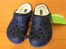 Shoes CROCS Crocskin Lined KIDS Unisex Clog Forest Green C10//11 C12//13 NWT