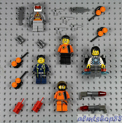 LEGO 5x Agents Minifigure Lot Weapons Space Villain Ultra Magma 8631 8633 8636