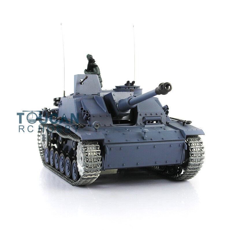 1 16 Scale HengLong Upgraded Metal Ver German Stug III RTR RC Tank Model 3868