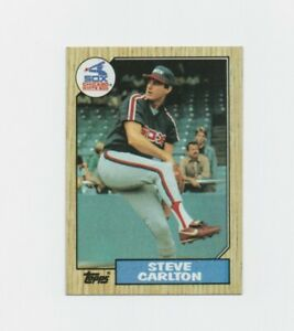 1987 Topps Set Break Steve Carlton Baseball Card #718 Chicago White Sox  HOF