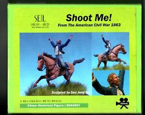 SEIL-MODEL-SH54001-SHOOT-ME-AMERICAN-CIVIL-WAR-54mm-WHITE-METAL-KIT-NUOVO